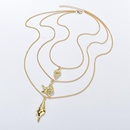 Womens Conch Starfish Plating Alloy Necklaces NHBQ127762