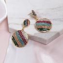 Womens Geometric Colored rhinestone Alloy Earrings NHJJ127803