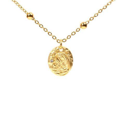 Fashion matt alloyen virgin mary micro-inlaid zircon necklace NHPY127932's discount tags