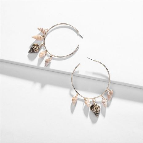 Fashion natural conch alloy copper ear ring NHLU127939's discount tags