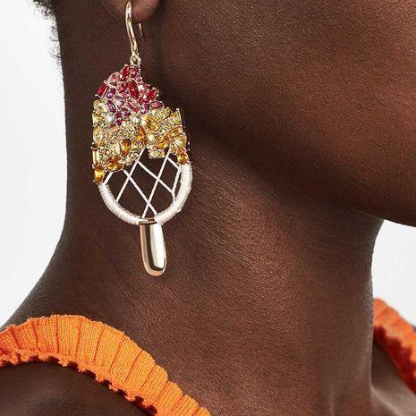 Fashion summer trend rhinestone ice cream earrings NHJQ127956's discount tags