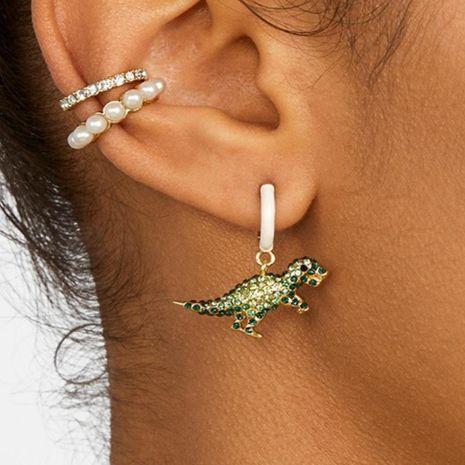 Alloy Rhinestone Creative Cute Tyrannosaurus Earrings NHJQ127986's discount tags