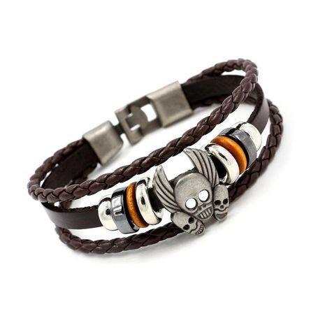 Shantou multi-layer woven men's bracelet NHHM127996's discount tags