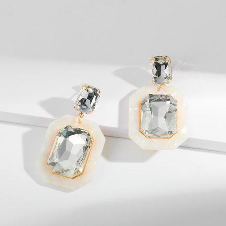 Temperament versatile geometric acrylic retro square with rhinestone earrings NHLL128022's discount tags