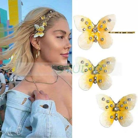 Exaggerated personality butterfly and rhinestone earrings NHYQ128034's discount tags