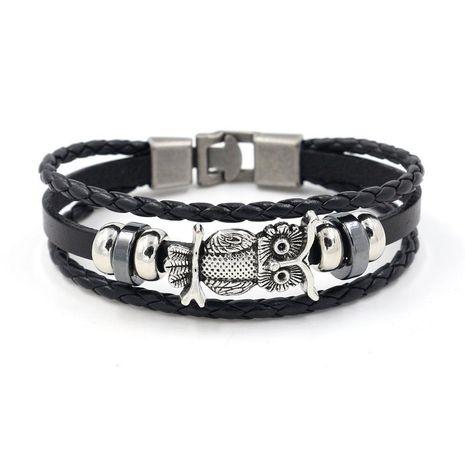 Vintage Owl Cowhide Bracelet NHHM128050's discount tags