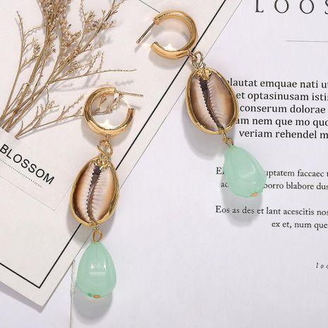 Summer Ocean Series Shell Gemstone Drop Earrings NHJQ128056's discount tags