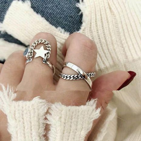 Womens Star Plating Alloy Rings NHYQ128094's discount tags