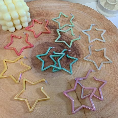 Acrylic big five-pointed star sexy fashion earrings NHYQ128120's discount tags