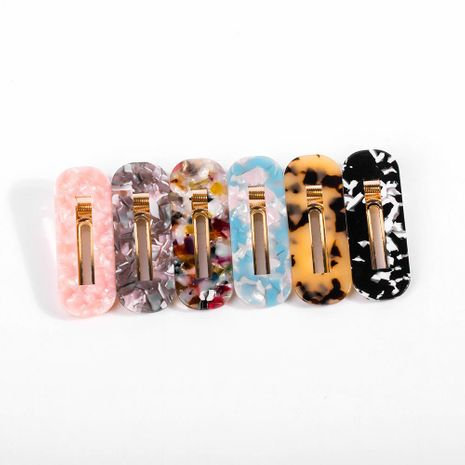 Womens Geometry Plating Acrylic Hair Accessories NHLL128123's discount tags