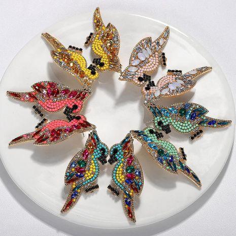Feminine  Zodiac Birds Alloy Rhinestone Earrings NHJQ128130's discount tags