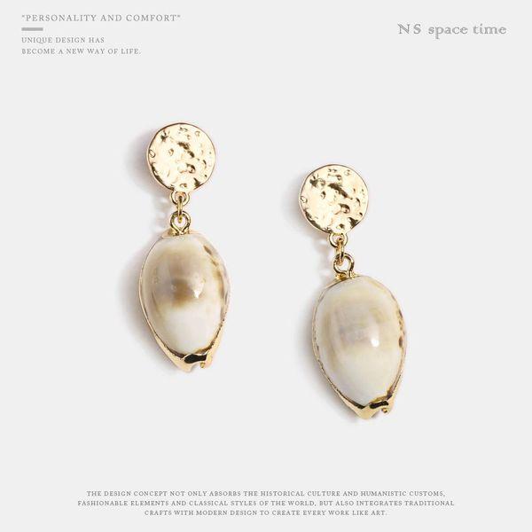 Fashion personality conch shell earrings NHQS128177