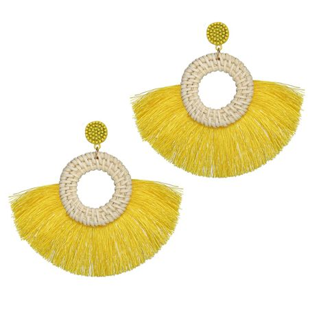 Fashion ethnic style personality exaggerated wool tassel earrings NHPJ128232's discount tags
