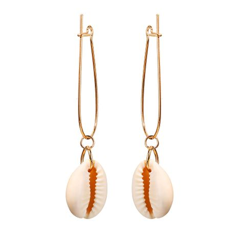 Creative vintage exaggerated white shell earrings NHPJ128255's discount tags
