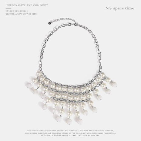 Fashion exaggerated beads alloy necklace NHQS128261's discount tags