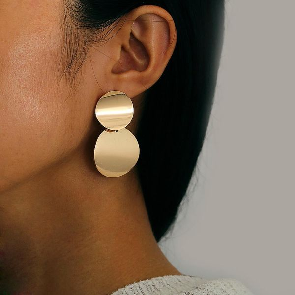 Simple metallic element exaggerated earrings NHPJ128284