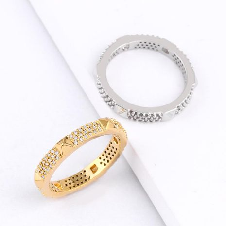 Womens Rhinestone Brass Electric White Steel Soaring Rings NHAS128327's discount tags