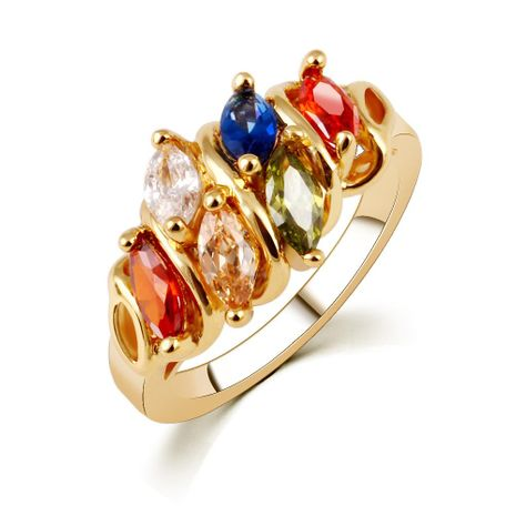 Fashion color zircon alloy ring NHPJ128339's discount tags