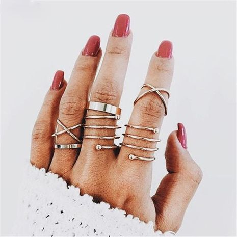 Personality Ring Retro Tail Rings 6 Piece Set NHPJ128341's discount tags