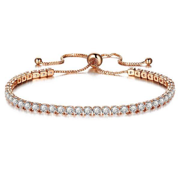 Mosaic imitated crystal push-pull bracelet alloy full rhinestone single row NHPJ128376