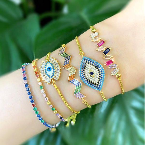 Small fresh micro-set zircon bracelet NHAS128366