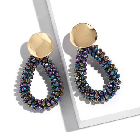 Fashion water drops geometric colorful beads earrings NHAS128379's discount tags