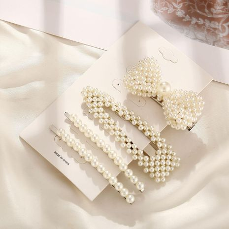 Creative retro simple word beads hairpin set NHPJ128386's discount tags