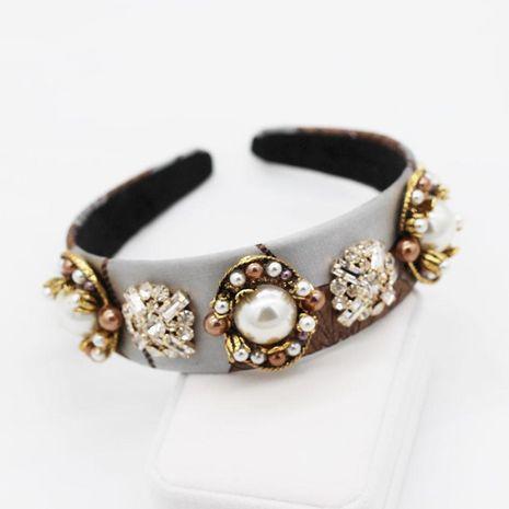 Fashion flower large beads geometric rhinestone headband NHWJ128391's discount tags