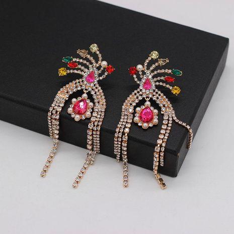 Fashion versatile luxury tassel full rhinestone earrings NHWJ128393's discount tags