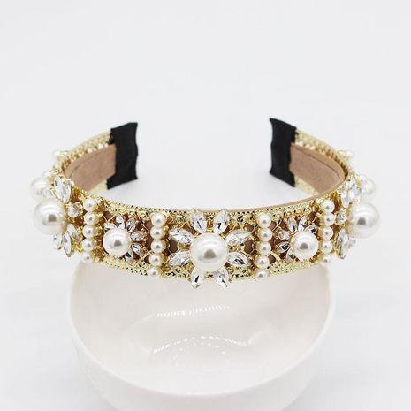 Retro moda palacio viento perla flor geométrica diadema NHWJ128417's discount tags