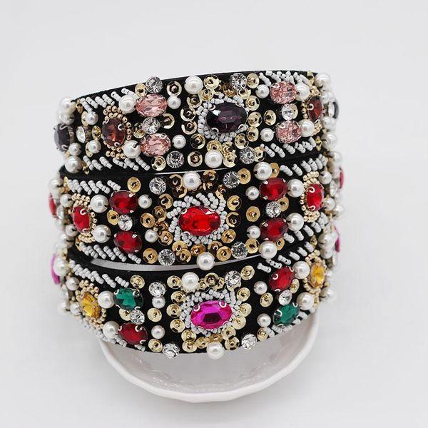 Fashion hand-stitched rice beads wild luxury headband NHWJ128477