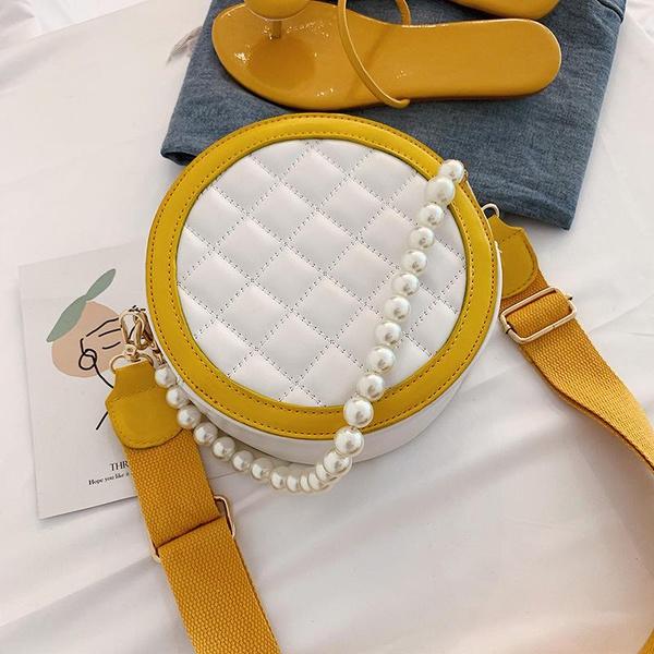 Korean version of the wild mini bag beads portable foreign small round bag NHPB128740