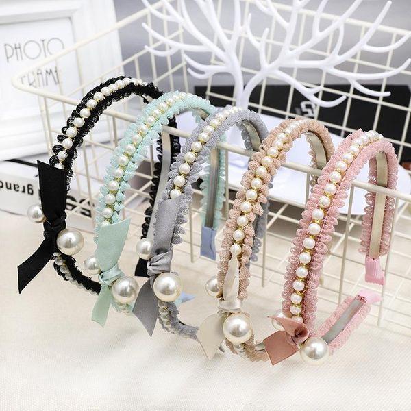 Fashion beads lace bow headband NHOU128825