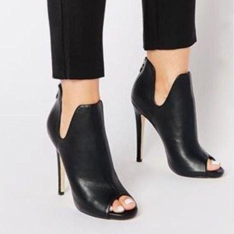 Sexy boca de pescado súper tacón alto sexy sandalias huecas simples zapatos femeninos NHSO128864's discount tags