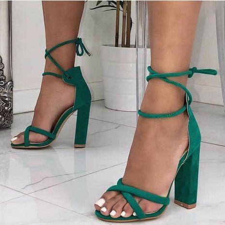 Correas cruzadas sencillas con sandalias de tacón alto. NHSO128909's discount tags