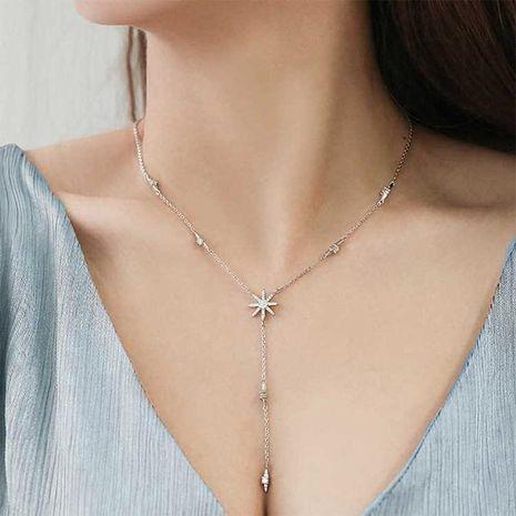 Fashion micro inlaid zircon sun flower star necklace NHDO128938's discount tags