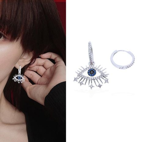 Fashion micro-inlaid zircon lucky eyerings NHDO128962's discount tags
