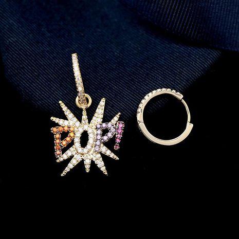 Fashion micro-inlaid zircon POP colorful earrings NHDO128971's discount tags