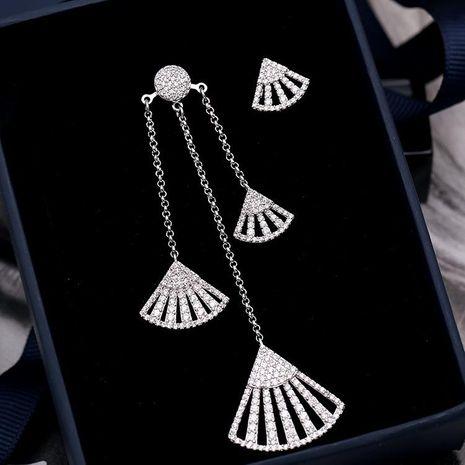 Womens Fashion fan-shaped copper earrings NHDO129010's discount tags
