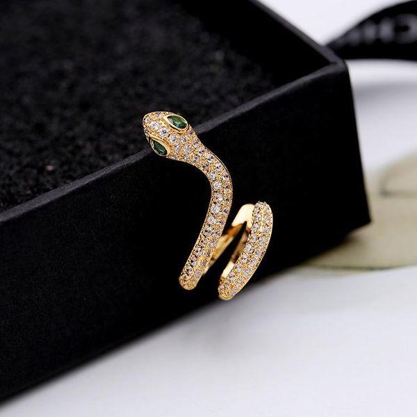 Fashion snake-shaped alloyen snake micro-set zircon earrings NHDO129062