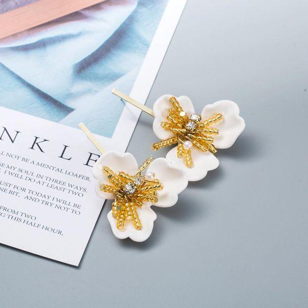 Fashion petal spray imitated crystal 925 alloy needle alloy earrings NHWF129093