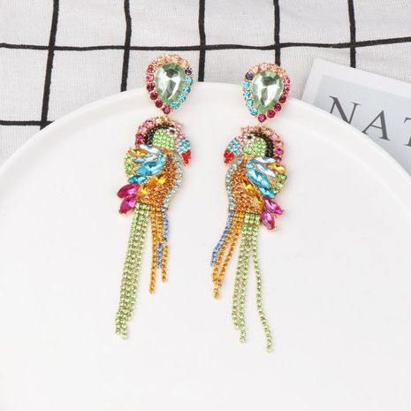 Exaggerated temperament wild long full tassel alloy earrings NHJJ129097's discount tags