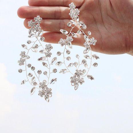 Fashion handmade rhinestone flower round earrings NHHS129149's discount tags