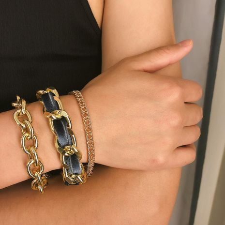 Womens geometric  shell plating alloy Bracelets & Bangles NHXR129165's discount tags