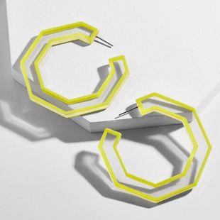 Creativo Acrílico Placa Geométrica Trazo Transparente Pendientes Abiertos NHLL129204's discount tags