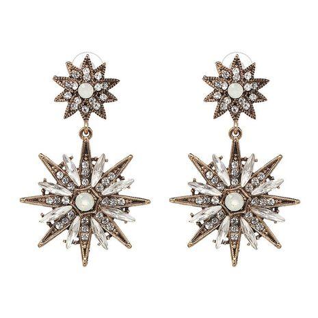 Vintage classic metal-studded rhinestone stud earrings NHJJ129207's discount tags