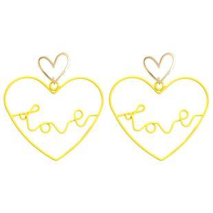 Pendientes de amor de moda con letras huecas de amor. NHMD129213's discount tags