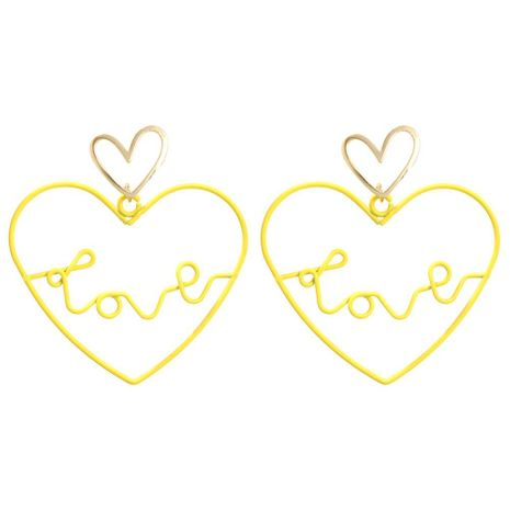 Fashion love hollow letters LOVE alloy earrings NHMD129213's discount tags