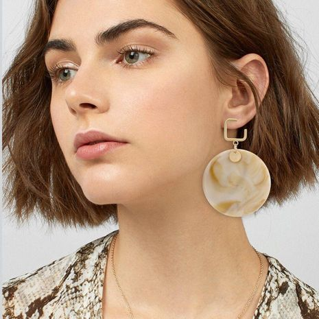 Vintage Acrylic Round Earrings NHBQ129218's discount tags