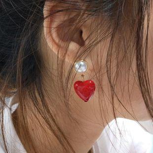 Versión coreana de los pendientes de perlas de imitación de perlas de estilo de color de caramelo salvaje de verano. NHMD129227's discount tags